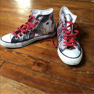 Rare! Converse All Star Hi Top USA Theme